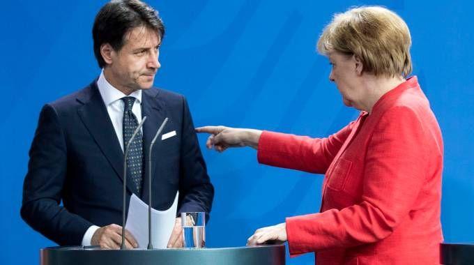 Giuseppe Conte incontra Angela Merkel (LaPresse)
