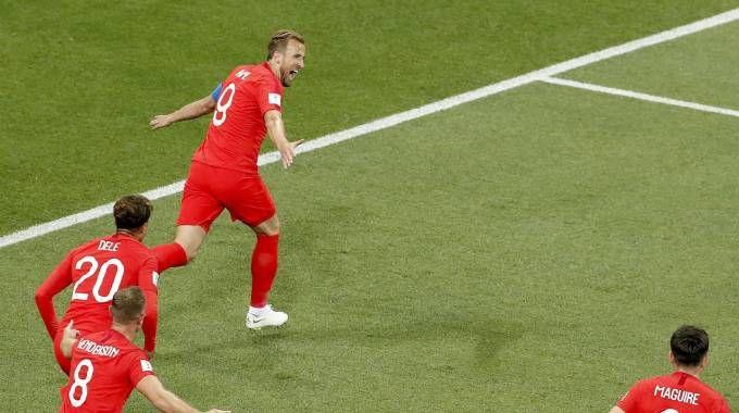 Tunisia-Inghilterra, gol di Kane (Ansa)