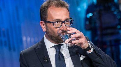 Alfonso Bonafede, ministro della Giustizia, ospite a 'Otto e mezzo' (Imagoeconomica)