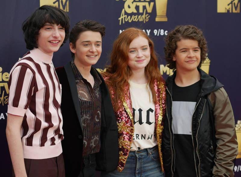 "Il cast di ""Stranger Things"" sul red carpet (Lapresse)"