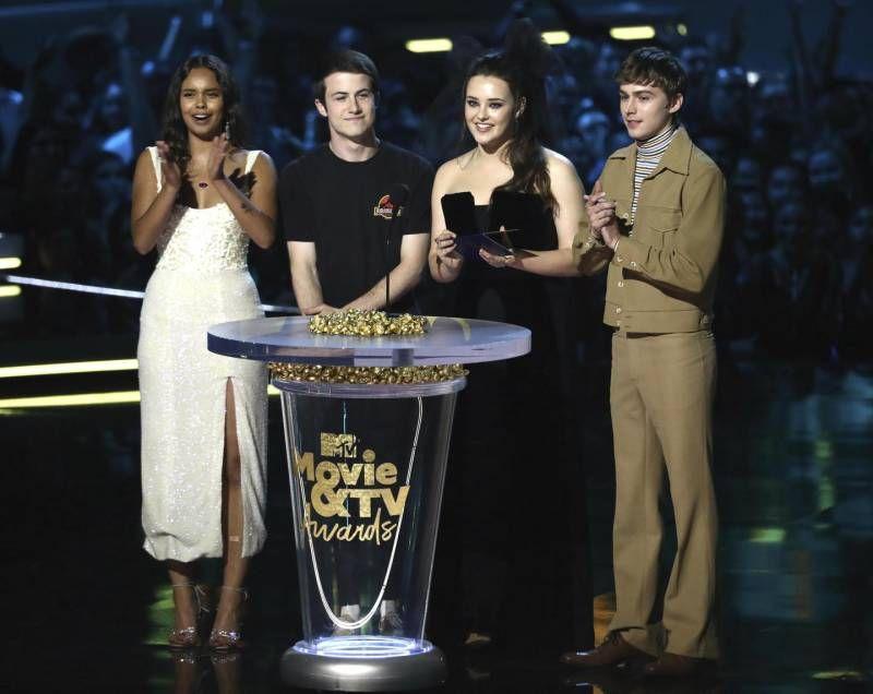 "Mtv Awards 2018, il cast di ""13 Reasons Why"" (Ansa)"