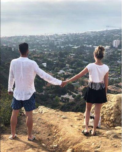 Roberto Gagliardini (Inter) insieme a Nicole Ciocca in California (Instagram)