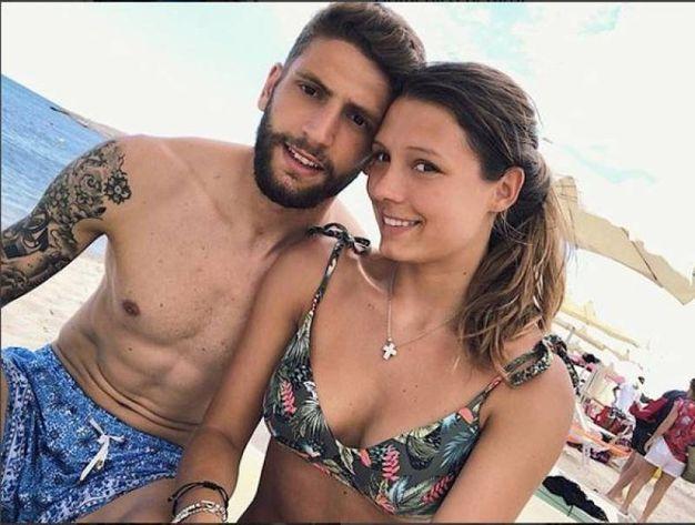 Domenico Berardi (Sassuolo) e Franscesca Fantuzzi in Sardegna (Instagram)