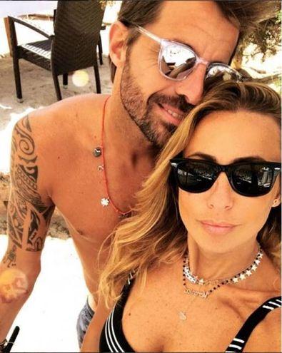 Marco Storari (Milan) con Veronica Zimbaro a Ibiza (Instagram)