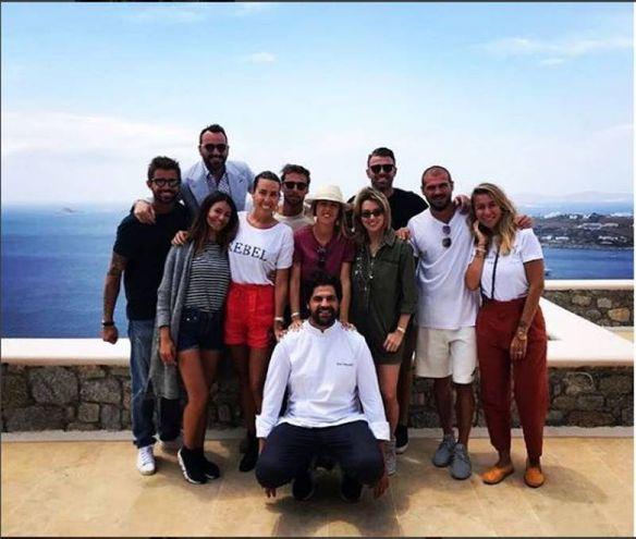 Claudio Marchisio, Andrea Barzagli, Stefano Sturaro e Marco Storari a Mykonos