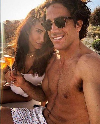 Alessandro Matri (Sassuolo) con Federica Nargi a Mykonos (Instagram)