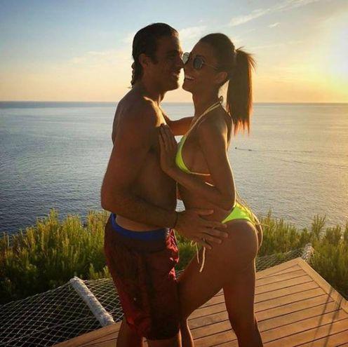 Alessandro Matri (Sassuolo) e Federica Nargi a Formentera (Instagram)