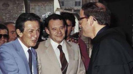 Padre Vincenzo Coli con Enrico Berlinguer