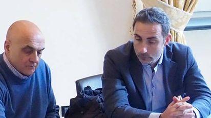 Luca Comiti (Cgil) con Walter Bertolini (Cisl)