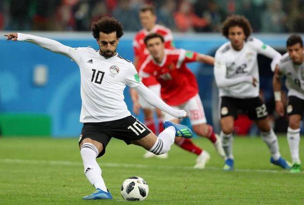 Russia-Egitto 3-1, Slah su rigore (Ansa)