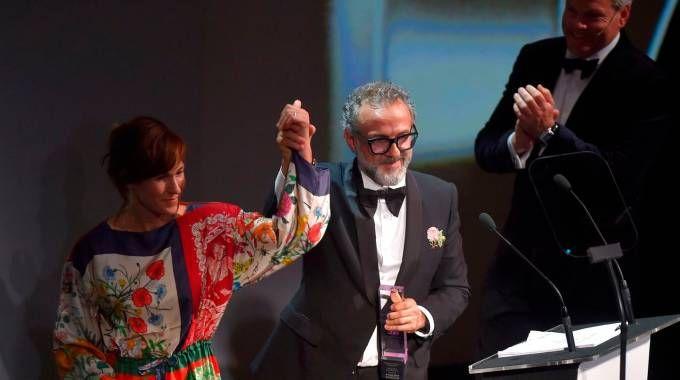 Lo chef Massimo Bottura a Bilbao (foto Afp)