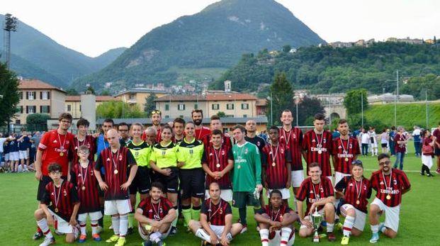 Sono arrivati secondi i ragazzi della Briantea84 con la maglia del Milan