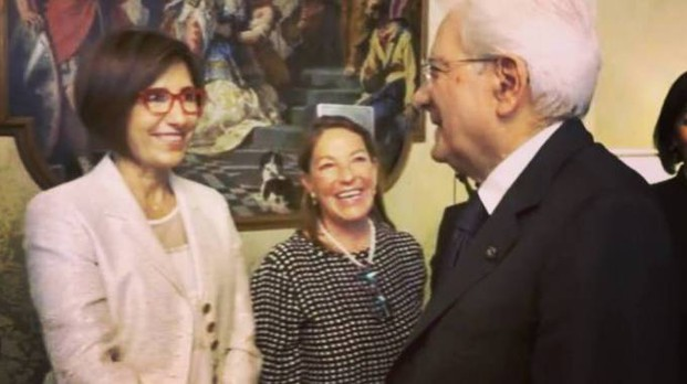 Silvia Bolzoni con il presidente Mattarella