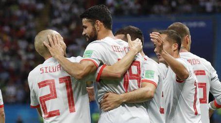 La Spagna batte l'Iran 1-0 (Ansa)