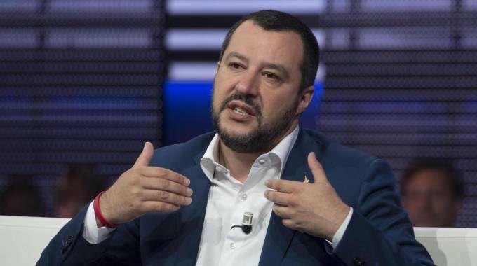 Il ministro dell'Interno Matteo Salvini ospite della trasmissione Agorà (Ansa)
