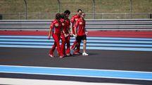 Gp di Francia, Vettel e il team Ferrari sul circuito di Le Castellet (Ansa)