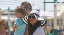 Montolivo con la moglie Cristina e la figlia (Foto Riccardo Dalle Luche)