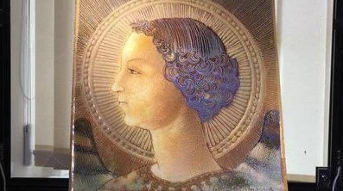 Leonardo da vinci su piastrella del 1471 forse il primo