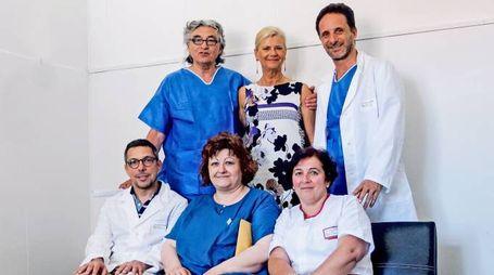 Parte dell'équipe che ha eseguito l'intervento (foto Frascatore)