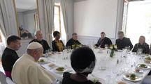 Il Papa a pranzo con i leader cristiani, anche donne (Ansa)