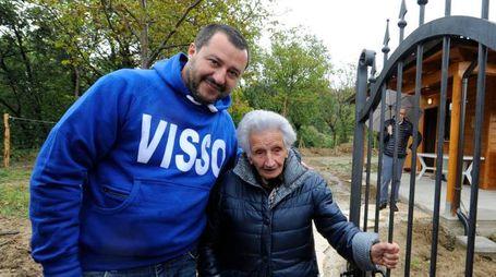 Peppina con Matteo Salvini