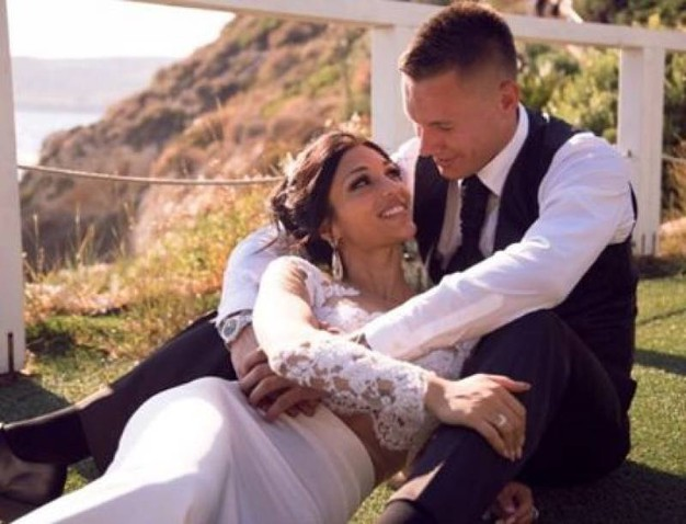 Un'immagine del matrimonio (foto da Instagram)