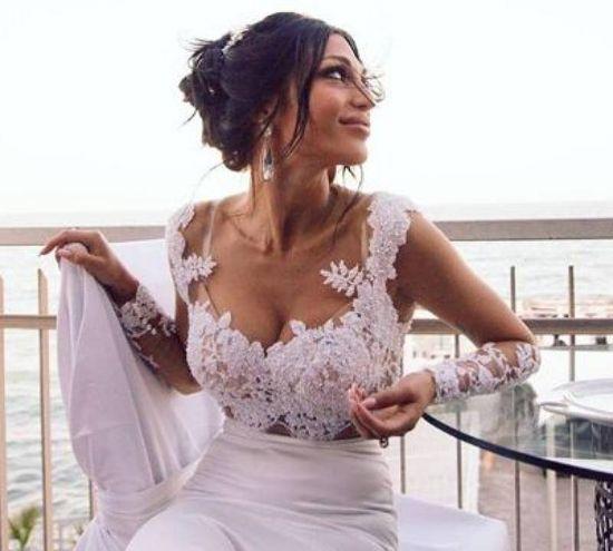 Matilde, splendida, nel giorno delle nozze (foto da Instagram)
