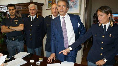 Un momento della conferenza stampa di ieri con il questore Antonio Pignataro