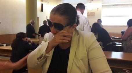 Antonella Zaccarelli subito dopo la lettura da parte del gup della sentenza di non luogo a procedere