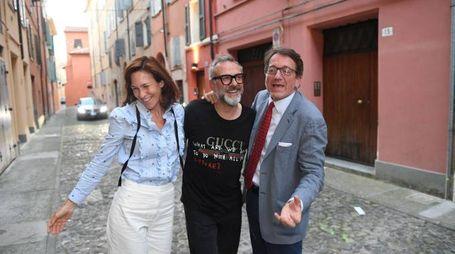 Lara Gilmore, Massimo Bottura e il sindaco Muzzarelli