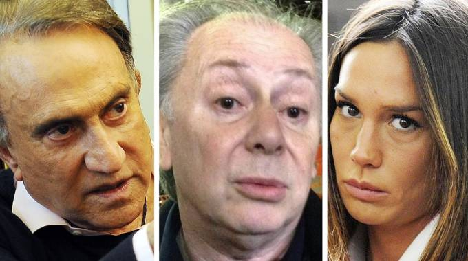 Combo tra Emilio Fede, Lele Mora e Nicole Minetti (Ansa)