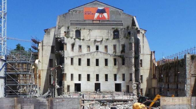 Il cantiere del teatro nell'estate 2015