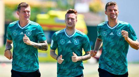 L'allenamento della Germania (LaPresse)