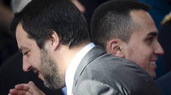 Matteo Salvini e Luigi Di Maio (Ansa)
