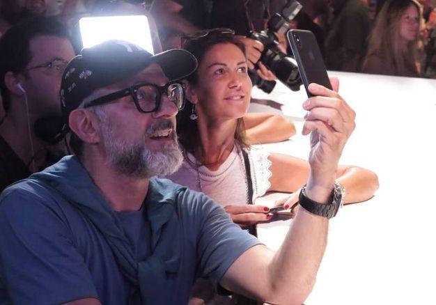 Un selfie con il super-chef (foto Petrangeli)