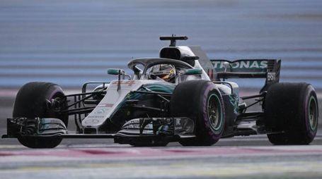 Lewis Hamilton sul circuito del Gp di Francia (Ansa)
