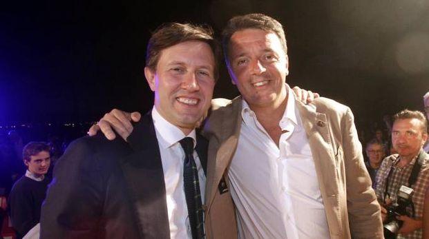 """Nardella e Renzi alla consegna dei """"Fiorini d'Oro"""" (New Press Photo)"""
