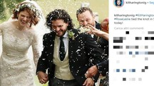 Il matrimonio di Kit Harington e Rose Leslie (Foto Instagram)