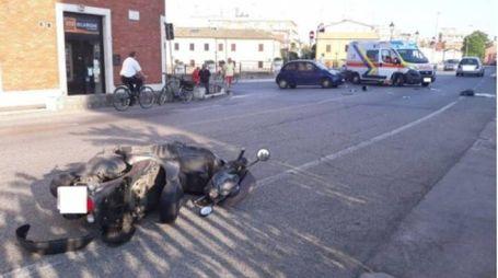 Il luogo dell'incidente (foto Santini)