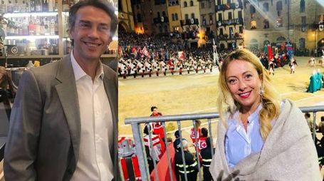 Alessio Boni e Giorgia Meloni