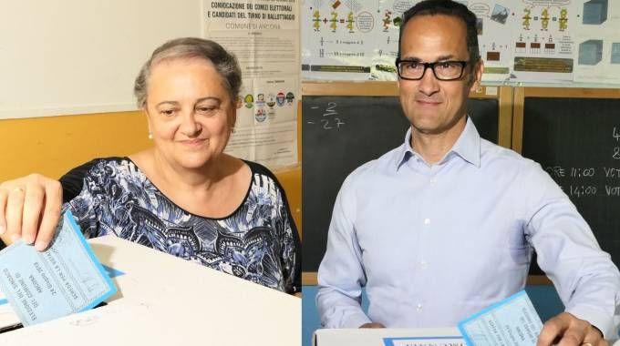 Ballottaggio ad Ancona: Valeria Mancinelli e Stefano Tombolini (Emma)