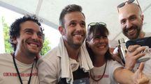 Nella foto gande Filippo Sanchi, secondo da sinistra, durante la gara tra bartender che si è svolta a Rimini