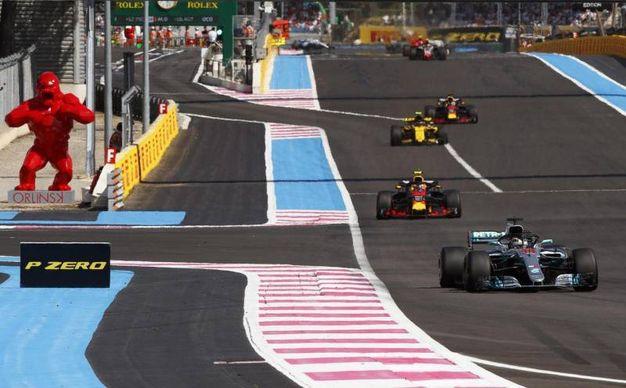 Un momento della gara sul circuito di Le Castellet (Ansa)