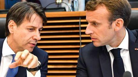 Conte e Macron (LaPresse)