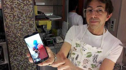 Bassetti mostra le foto dell'allagamento