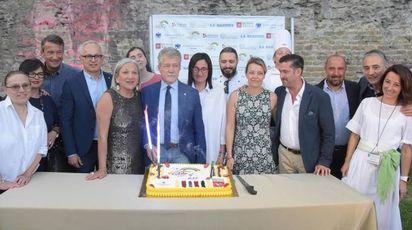 Arcobaleno d'estate, l'aperitivo ad Arezzo (foto Cristini)
