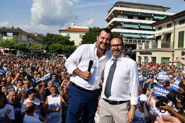 Francesco Persiani con Matteo Salvini