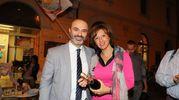 Manuela Sangirgi con Massimo Bugani, fedelissimo di Grillo (Isolapress)