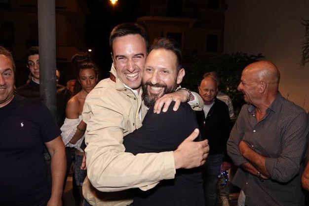 Nazareno Franchellucci festeggia la vittoria (foto Zeppilli)