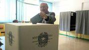 Marco Luchett era, appoggiato da Pd e tre liste civiche (foto Pascucci)